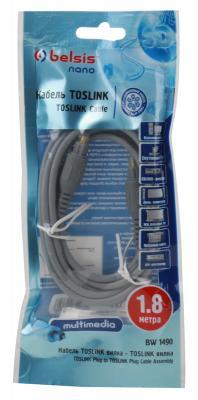 Оптоволоконный кабель Audio Belsis Toslink цифровое аудио, 1.8м. BW1490