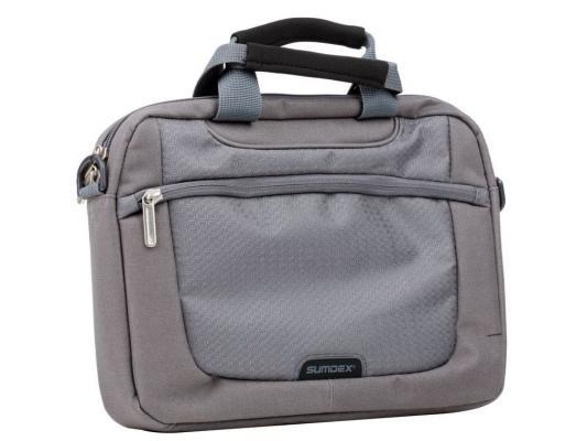 Сумка для ноутбука 10 Sumdex PON-308GP Netbook Case Gray полиэстер сумка для ноутбука sumdex case pon 302bk 15нейлон чёрный pon 302bk