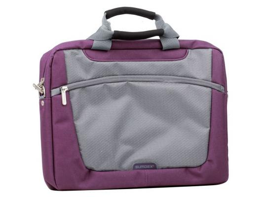 "Сумка для ноутбука 16"" Sumdex PON-318PL Computer Brief purple полиэстер цена и фото"