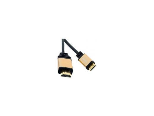 Кабель Defender А/В HDMI07-06Pro (ver. 1.4) HDMI(M)-MiniHDMI(M), 1.8м, BL кабель hdmi 05pro hdmi m m ver 1 4 defender 1 5м черн
