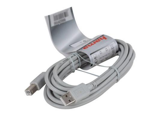 Кабель Hama USB 2.0 A-B (m-m), 3.0 м, серый H-29100 кабель usb3 0 hama h 54500 usb a m usb a m 1 8м [00054500]