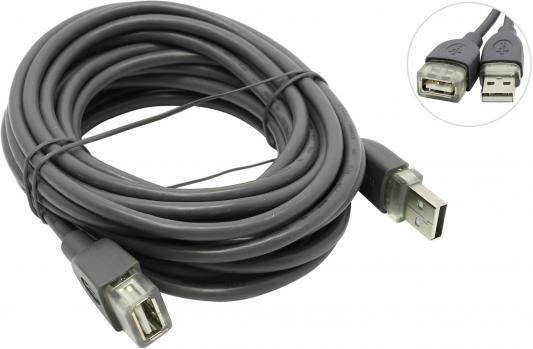 Кабель Hama USB 2.0 A-A (m-f) удлинительный, 5.0 м, *, серый H-78400 цена и фото