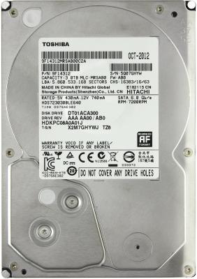3.5'' Жесткий диск 3Tb Toshiba Mars (DT01ACA300) SATA III <7200rpm, 64Mb>