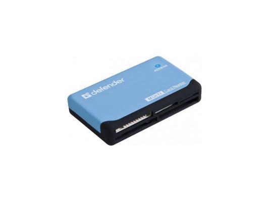 Карт-ридер Defender Ultra USB 2.0, универс., син+чер карт ридер mobiledata htf 05
