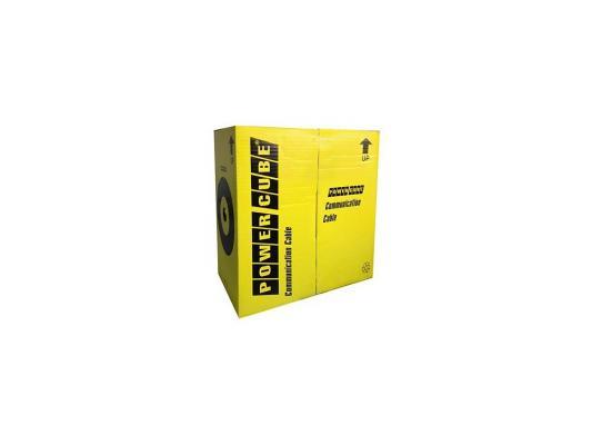 Кабель UTP Power Cube кат.5e Медь однож. 4х2х0.51 мм, 305 м pullbox, серый (FLUKE TEST) PC-UPC-5051E-SO