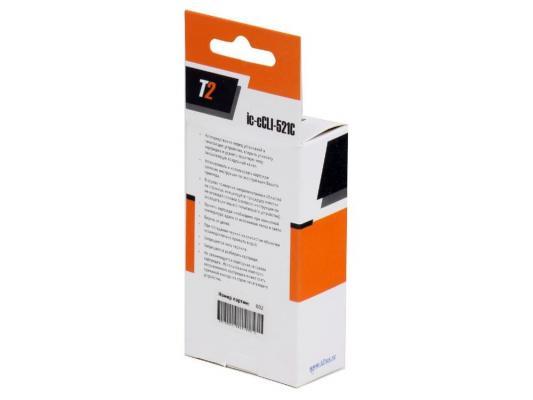Картридж T2 для Canon IC-CCLI-521C  MP540/620/630/980/Pixma iP4700/MX860/870,  голубой, с чипом картридж cactus cs pgi520bk для canon pixma mp540 550 620 630 640 660 980 990