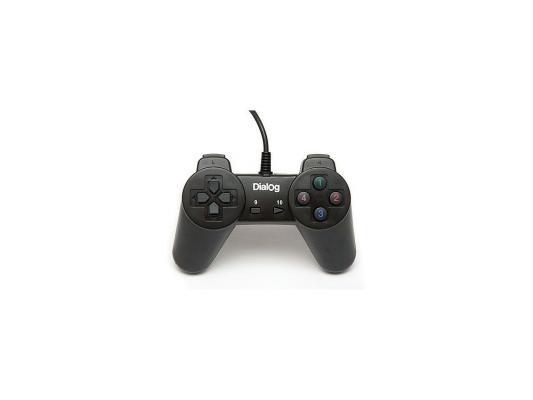 Геймпад Dialog Action GP-A01 Black dialog action gp a11 черный геймпад вибрация 12 кнопок usb