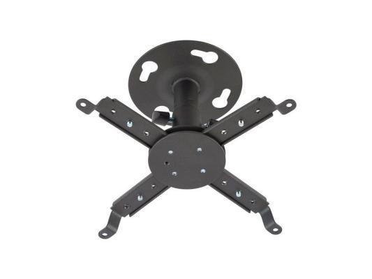Кронштейн Kromax ProjectOR-30 для проекторов, потолочный, 2 ст. свободы, max 10 кг, 125 mm Grey кронштейн kromax star dvd для dvd в сочетании с кронштейнами серии star 0 ст свободы max 75 кг grey