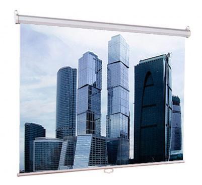 Настенный экран Lumien Eco Picture 150х150 см Matte White, восьмигранный корпус, возм. потолочн-настенного крепления (Треугольная уп)
