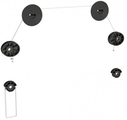 """Кронштейн ARM Media LED-3, струна, плазма тв 32""""-63"""",  Vesa 800*800, настенный, 0 ст. свободы, max 50 кг, 14,5мм от стены, черный"""