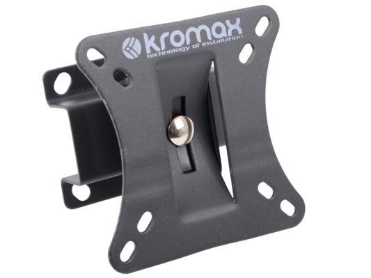 """Кронштейн Kromax Galactic-1 (Наклонный кронштейн для ЖК-панелей с диагональю 10""""-26"""", 2 степени свободы, Vesa 50/75/100 c макс. нагр. 20 кг) Grey"""