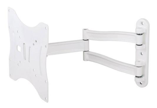 Кронштейн Kromax Techno-3 Белый,  для ЖК и LED ТВ 15-37, настенный, 4 ст. свободы, Vesa 75/100/200*100/200, max 20 кг White kromax techno 12 15 37