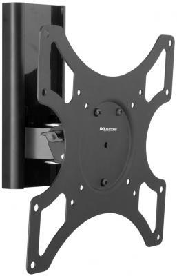 Кронштейн Kromax Titan-7, Для ТВ с диагональю 17-37, настенный, 2 ст. свободы, Vesa 50/75/100/200*100/200, max 25 кг, черный