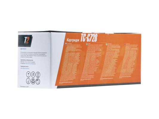 Тонер-картридж  T2 для Canon TC-C728   i-Sensys MF4410/MF4430/MF4450/MF4550d/MF4570dn/MF4580dn/HP LaserJet Pro P1566/P1606dn/M1536dnf (2100 стр.) тонер картридж cactus csp c728 premium черный для canon i sensys mf4410 4430 4450 4550d 3000стр