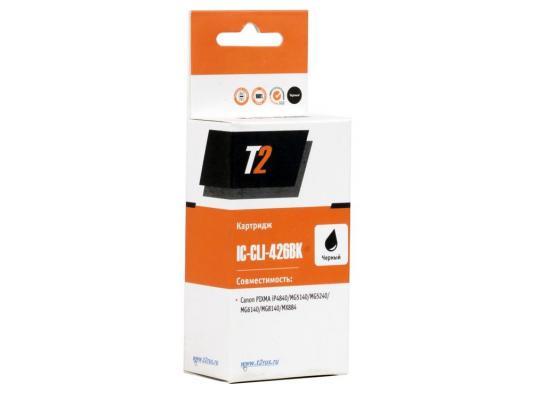 Картридж T2 для Canon IC-CLI-426BK    Pixma iP4840/iP4940/MG5140/MG5240/MG5340/MG6140/MG6240/MG8140/MG8240/MX884,черный, с чипом картридж blossom bs cli 426c cyan для canon mg5240 mg5140 ip4840 6140 8140