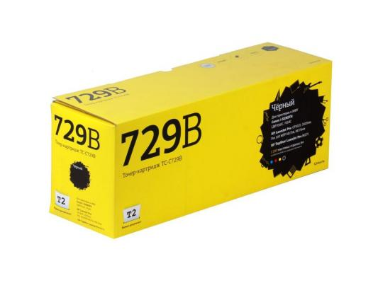 Тонер-картридж T2 для Canon TC-C729B для Canon i-Sensys LBP7010C/7018C/HP LJ Pro CP1025/1025nw/Pro 100 MFP M175A/Pro 100 M175nw (1200 стр.) Черный картридж t2 tc c729y для canon i sensys lbp7010c 7018c hp laserjet pro cp1025 1025nw pro 100 mfp желтый