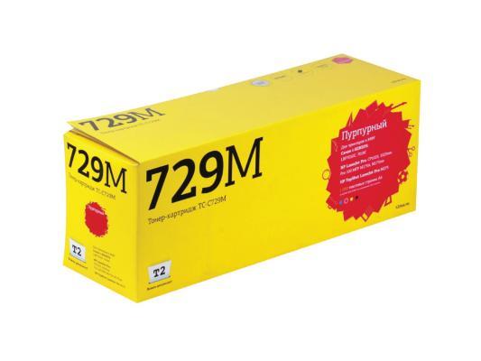 Фото - Тонер-картридж T2 для Canon TC-C729M для Canon i-Sensys LBP7010C/7018C/HP LJ Pro CP1025/1025nw/Pro 100 MFP M175A/Pro 100 M175nw (1200 стр.) сумка для видеокамеры 100% dslr canon nikon sony pentax slr