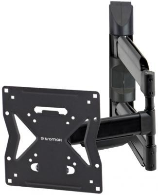 """Кронштейн Kromax Ledas-200 для LED/LCD телевизоров 17""""-37"""", 4 ст свободы, наклон 10°, поворот 180°, от стены 52-530 мм, max Vesa 200x200"""
