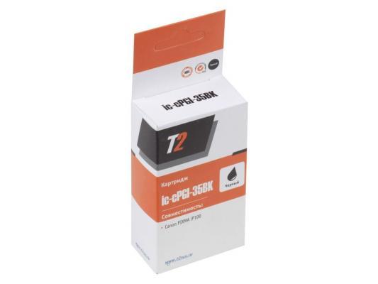 Картридж T2 для Canon IC-CPGI-35Bk  для Canon Pixma iP100, черный, с чипом