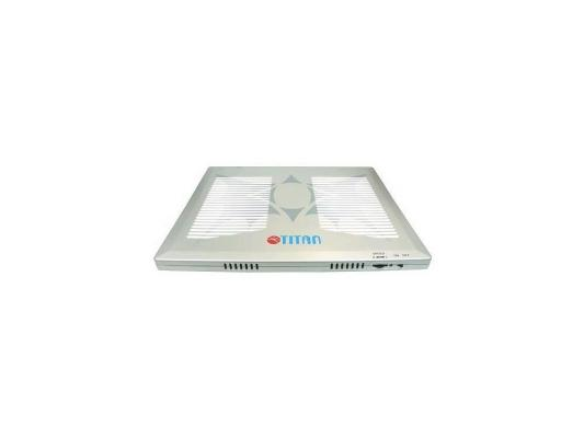 """Теплоотводящая подставка под ноутбук (универсальная) Titan TTC-G1TZ laptop 12-15"""", серебро 4 вент. USB Ret"""