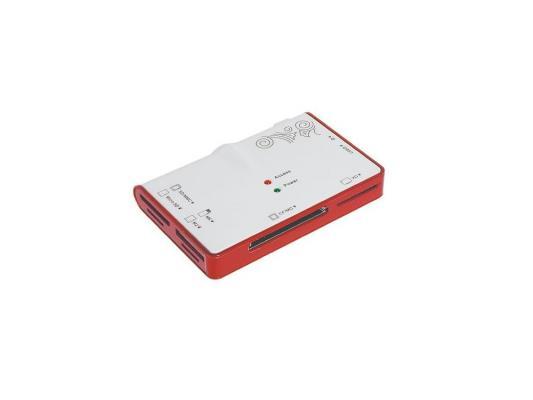Карт-ридер USB 2.0 Konoos UK-12 + Hub 2 порта, (6 слотов для карт памяти - SD/SDHC/MMC/MicroSD/MS/M2/XD/CF/MD)