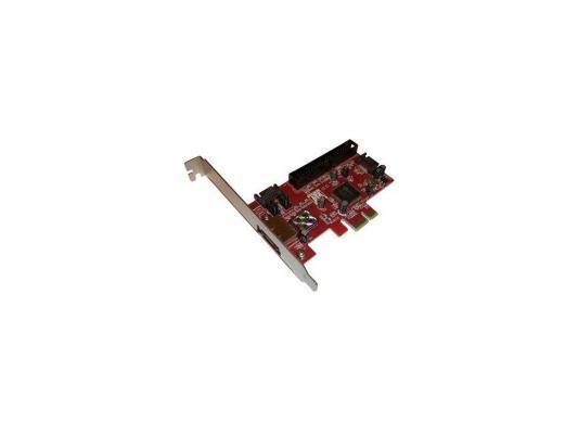 Контроллер Orient J363SIR, SATAII 300 Raid 1ext/2int port, ATA133 1int port, Raid 0/1, JMB363 chipset, PCI-E, кабель SATA