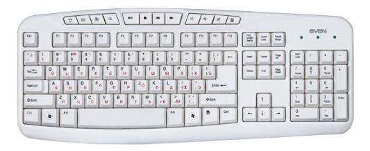 все цены на Клавиатура Sven comfort 3050 USB белый онлайн