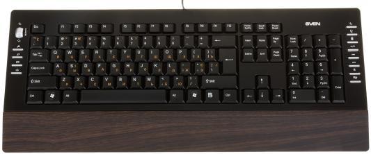 все цены на Клавиатура Sven Comfort 4200 Wooden USB черный онлайн