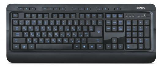 Клавиатура Sven Comfort 7600 EL USB черный стоимость