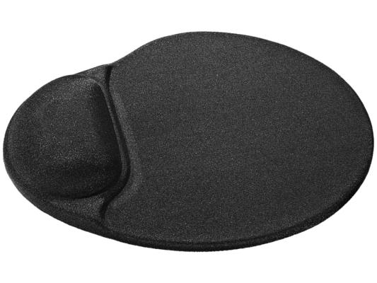 Коврик для мыши Defender гелевый Easy Work (черная лайкра) нескользящ.основа,260х225х5мм