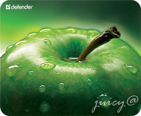 Коврик для мыши Defender пластиковый Juicy sticker 220х180х0.4 мм коврик defender juicy sticker 50412