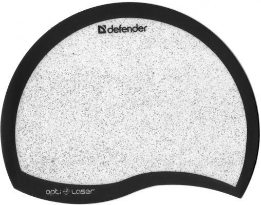 Коврик для  мыши Defender  пластиковый Ergo opti-laser Black (черный) 215х165х1.2 мм коврик для мыши defender гелевый easy work ergo черная лайкра нескользящ основа 260х225х5мм 50905