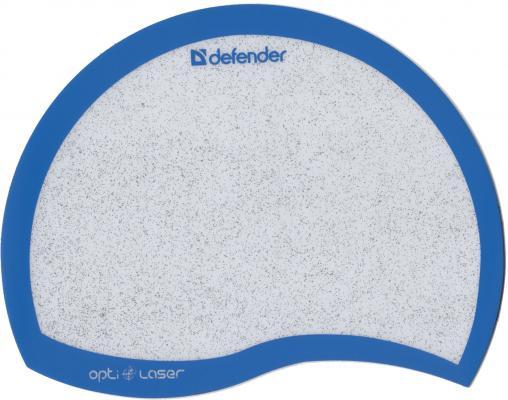 лучшая цена Коврик для мыши Defender пластиковый Ergo opti-laser Blue (синий) 215х165х1.2 мм
