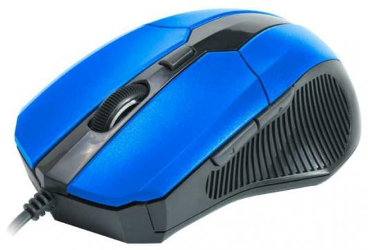 лучшая цена Мышь проводная CBR CM-301 синий чёрный USB
