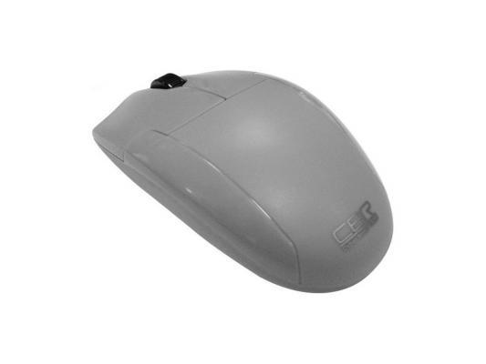 Мышь CBR CM-302 Grey, оптика, бесшумное нажатие, USB, мышь cbr cm 500 grey