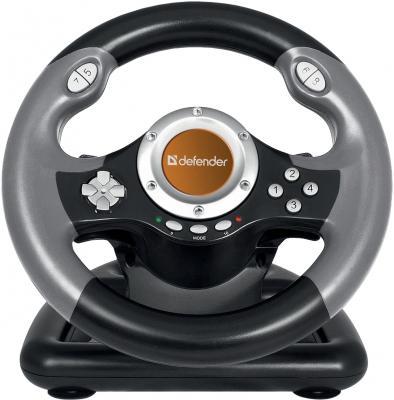 все цены на Руль Defender Challenge Mini LE 8 кнопок + два подрулевых переключателя + восьмипозиционный переключатель видов,Струбцина для крепления