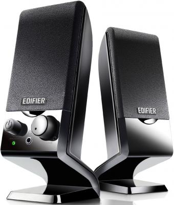 Колонки Edifier M1250 Black <2.0, 1Wx2, питание USB> колонки edifier r1200t black wood