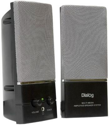 Колонки Dialog AM-11B Black 6W RMS-2.0