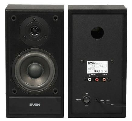 цена на Колонки Sven SPS-702 2х20 Вт черная кожа