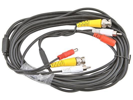 Кабель для камер видеонаблюдения, видео BNC + аудио RCA + питание, 7.5 м, oem ivue cpva10 ahd кабель для камер видеонаблюдения 10 м
