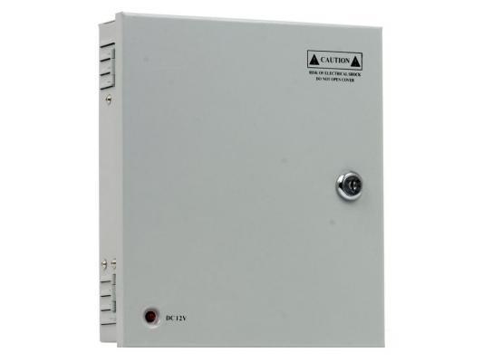 Блок питания для видеокамер Orient PB-09А, Output: 12V DC 500mA x 9 выходов, металлический корпус