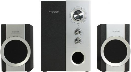 цена на Колонки Microlab M520 <2колонки+сабвуфер, 32 Вт RMS> Silver-Black