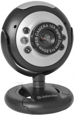 Вэб-камера Defender C-110 0.3 Мп, подсветка, кнопка фото