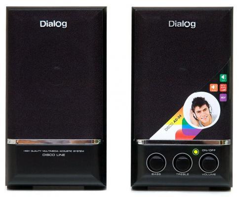 Колонки Dialog Disco AD-04 Black 16W RMS-2.0 колонки dialog melody am 11b 2x3вт rms пластик черный