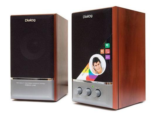 Колонки Dialog Disco AD-06 Cherry 24W RMS-2.0 колонки dialog disco ad 05 cherry 20w rms 2 0