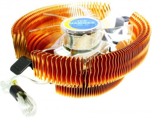 Кулер Ice Hammer IH-3776WV-R <SocketAM2/LGA775/1366, Cu, Neon Red>