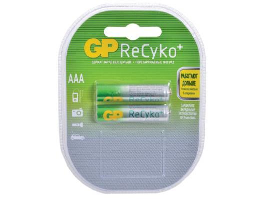 Аккумулятор GP ReCyko+ 800 mAh AAA 2 шт 85AAAHCB-2CR2