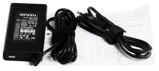 Универсальный адаптер питания для ноутбуков GinzzuGA-2180U (ультраслим, 80W, 1xUSB, 12V-24V, 13 DC-IN)