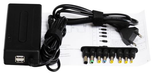 цены  Универсальный адаптер питания для ноутбуков GinzzuGA-1090U (90W, 2xUSB, 12V-24V, 8 DC-IN)