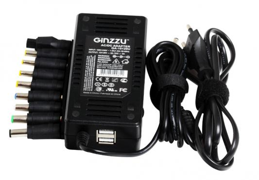 Универсальный адаптер питания для ноутбуков GinzzuGA-10120U (120W, 2xUSB, 12V-24V, 9 DC-IN) new arrival adjustable speed controller dc brush motor speed pwm controller adjuster 12v 24v 36v 60v 8a 400w with control switch